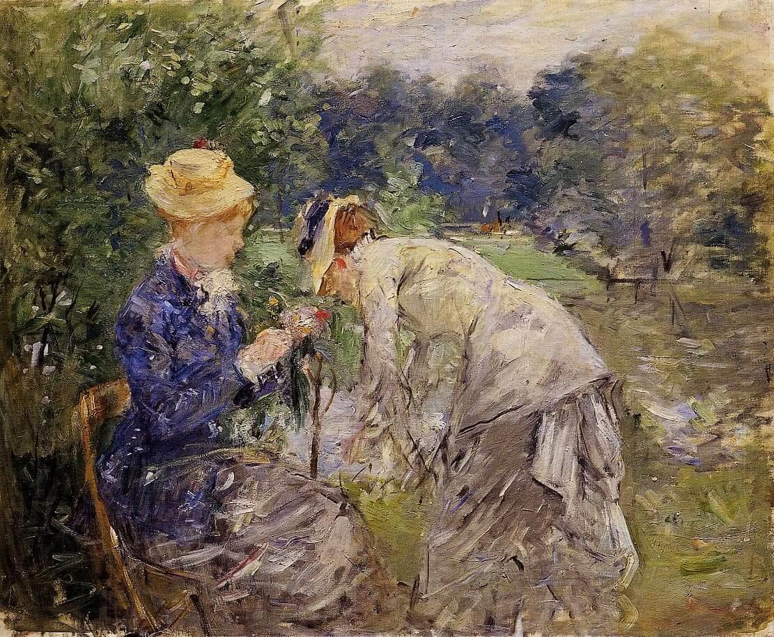 """""""En el bosque de Bolonia"""", de Berthe Morisot"""