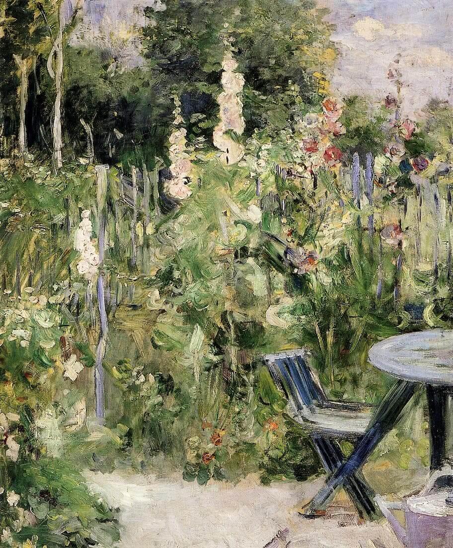 """""""Malvarrosas"""", de Berthe Morisot"""