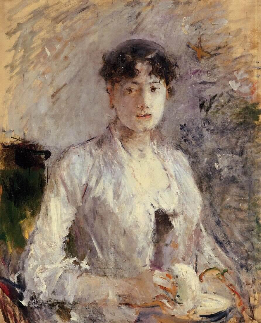 """Joven mujer en malva"", de Berthe Morisot"